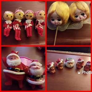 Vintage Christmas lot. Japan 60's 70's 80's